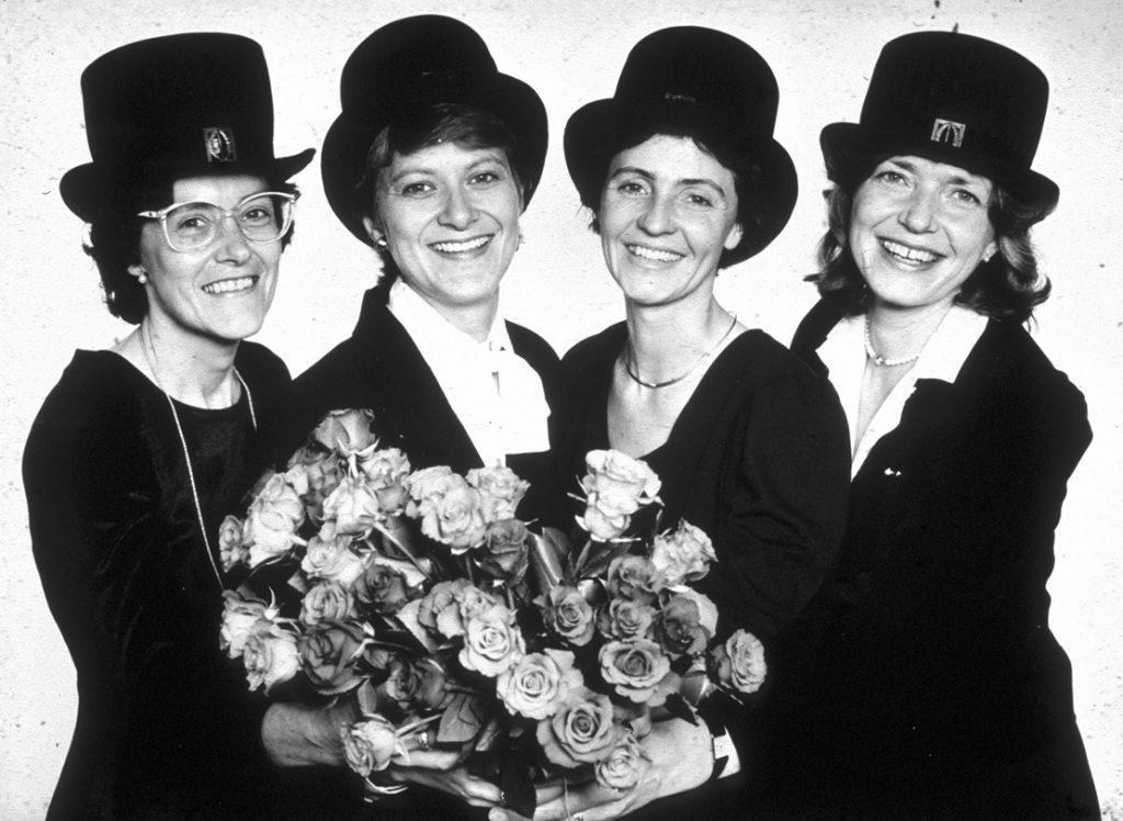 Fyra fina forskare på ögonkliniken i Lund 1987