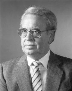 Professor Hans Bynke vid sin pensionering.